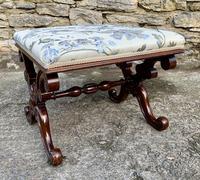 Victorian Mahogany X-Frame Stool (11 of 15)