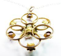 Antique Hallmarked Gold Almandine Garnet Pedant With Necklace (5 of 8)