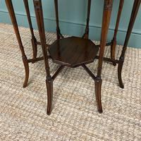 Striking Figured Rosewood Victorian Inlaid Antique Occasional Table (2 of 7)
