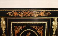 Victorian Ebonised & Marquetry Display Cabinet (6 of 7)