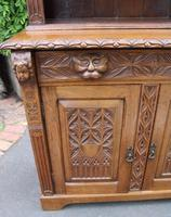 1900's Large Carved Oak Bookcase with Good Carving (4 of 6)