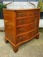Burr Yew Serpentine Front Chest of Drawers (3 of 5)