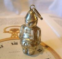 Antique Pocket Watch Chain Fob 1890s Victorian Silver Nickel Policemen Fob (4 of 10)