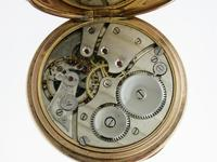 Gold Filled Open Face Pocket Watch with Gold Filled Chain Swiss 1925 Ald Case (7 of 7)