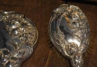 Fine Art Nouveau silver dressing table set (4 of 11)