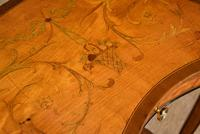 Satinwood Kidney Table Floral Marquetry (4 of 6)