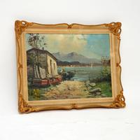 Antique Italian Landscape Oil Painting by Tardini (2 of 10)
