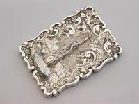 Victorian Silver Castle-top Card Case Martyrs Memorial Oxford by Frederick Marson, Birmingham, 1850 (5 of 10)