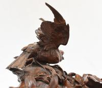 Black Forest Inkwell Hand Carved German Cuckoo Bird Sculpture 1860 (7 of 9)