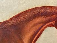 Victorian Oil Painting Chestnut Horse Portrait In Stable Signed Edwin Loder (22 of 42)