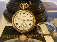 Antique Waltham Pocket Watch 1909 Ladies 7 Jewel 9ct Gold Filled Case With Curious Inscriptions Fwo (4 of 12)