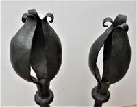 Pair of Antique English Arts & Crafts Wrought Iron Fire Dogs, Early 20th Century (4 of 4)