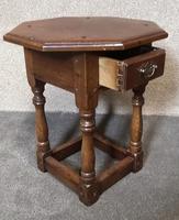 Oak Octagonal Occasional Table - Siesta Furniture (2 of 7)