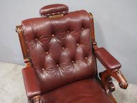 William IV Mahogany and Burgundy Leather Armchair (3 of 12)