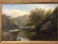 George Henry Jenkins 'A Devon River Landscape' Oil on Canvas Painting (12 of 12)