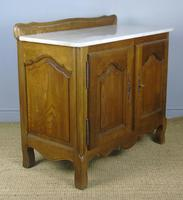 Antique Oak Marble Top Cabinet / Washstand (6 of 6)