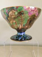 Rare Wedgewood Fairyland Lustre 'Garden of Paradise' Footed Bowl, Z4968