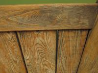 Antique Elm Tavern Bench Settle, Rustic Hall Seat (7 of 19)