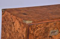 Burr Walnut Victorian Campaign Chest of Drawers (3 of 10)