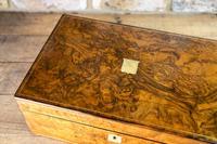 Superb Burr Walnut Writing Slope 1860 (13 of 13)
