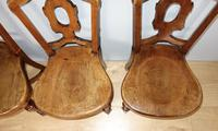Set of Four Light Mahogany Victorian Hall Chairs (3 of 6)