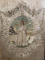 Georgian 18th Century Silk Embroidered Picture (2 of 10)