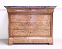 19th Century Burr Walnut Commode (4 of 9)