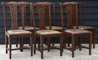 Good Quality Set of Eight Georgian Style Mahogany Dining Chairs c.1910 (2 of 12)