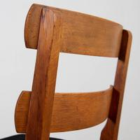 Set of 6 1930s Golden Oak Dining Chairs in the Manner of Heal's (12 of 16)