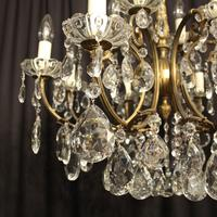 Italian Gilded 12 Light Antique Chandelier (6 of 8)