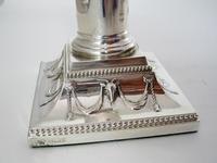 "Pair of Elegant 14cm (5.5"") Edwardian Silver Candlesticks (5 of 8)"