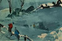 George Richard Deakins Superb Winter Landscape Oil Painting (6 of 11)