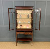 Inlaid Mahogany Display Cabinet by Shapland and Petter (13 of 21)