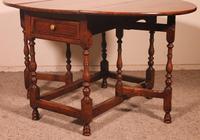 Gateleg Table in Oak -18th Century (8 of 11)