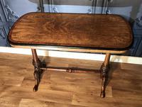 Victorian Burr Walnut & Amboyna Centre Table (7 of 14)