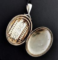 Antique Victorian Silver Locket, Aesthetic Era (13 of 13)