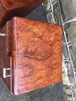 Pair of Art Deco Burr Walnut  Bedside Cabinets (3 of 10)