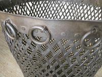 Tall Iron Lattice Waste Paper Basket (3 of 6)
