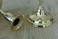 Fine Pair of 19th Century English Brass Candlesticks 18th Century Style (4 of 6)