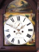 Antique Longcase Clock Fine English Oak Striking Grandfather Clock Painted Dial (8 of 10)