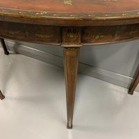 18th Century Decorated Demi-lune Console Table (4 of 11)