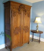 19th Century Carved Pitch Pine Armoire