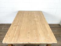 Victorian Pine Scrub Top Farmhouse Table (6 of 10)