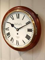 Mahogany 10' Fusee Dial Clock (8 of 12)