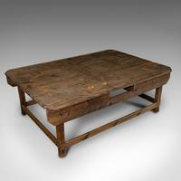 Large Antique Textiles Table, English, Pine, Shop, Retail, Display, Victorian (7 of 12)