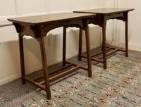 Pair of Arts & Crafts Elm Tables (2 of 8)