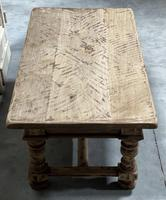 Rustic French Bleached Oak Coffee Table with 2 Drawers (12 of 19)