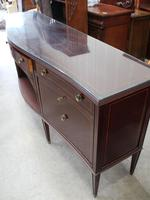 1960s Large Mahogany Serpentine Sideboard with Keys (5 of 5)