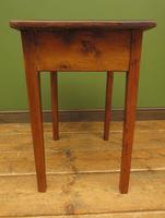 Small Antique Pine Table with Drawer, Very Small Desk (5 of 13)