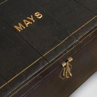 Antique Ebonised Carriage Chest, English, Pine, Tool Trunk, Victorian c 1850 (11 of 12)